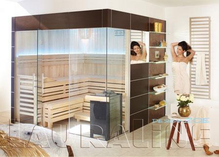 Paneelsauna: modern   lagerholm saunabau